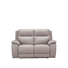 image-Colby Real Leather/Faux Leather 2 Seater Power Recliner Sofa
