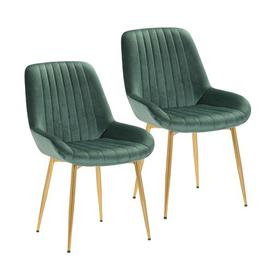 image-Nester Upholstered Dining Chair Blue Elephant Upholstery Colour: Green