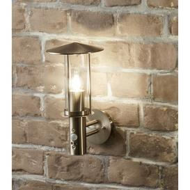 image-Greendale Outdoor Wall Lantern with PIR Sensor Sol 72 Outdoor Fixture Finish: Chrome/Silver