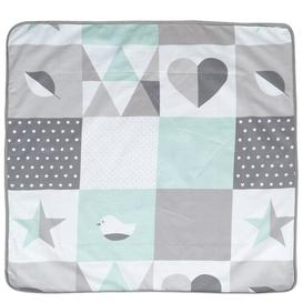 image-Happy Patch Baby Blanket roba Colour: Grey and light blue
