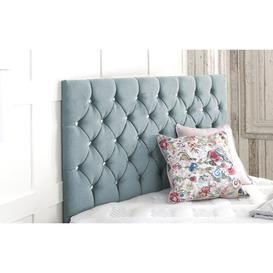 image-Upholstered Headboard Willa Arlo Interiors Size: Single (3'), Upholstery: Sky