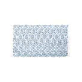 image-Cotton Fouta Beach Towel with Cement Tile Pattern 100x200