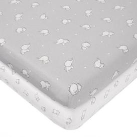 image-Tiny But Mighty Jersey Pack of 2 Cot Bed Fitted Sheets Grey