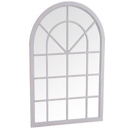 image-Merida Grey Small Arched Window Mirror
