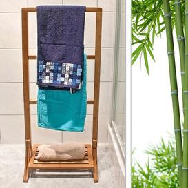 image-Fairbury Bamboo Free Standing Towel Rack Bay Isle Home