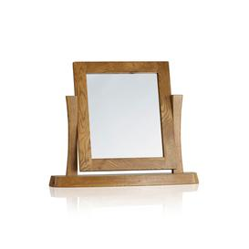 image-Rustic Solid Oak Dressing Table Mirrors - Dressing Table Mirror - Orrick Range - Oak Furnitureland