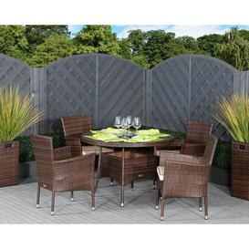image-Fay 4  Seater Dining Set with Cushions Sol 72 Outdoor