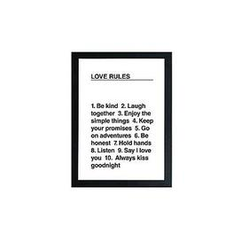 image-East End Prints Love Rules By Native State A3 Wall Art
