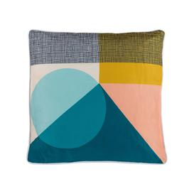 image-Premium Scatter Cushion in Multi coloured geometric