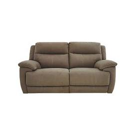 image-Touch 2 Seater Fabric Recliner Sofa