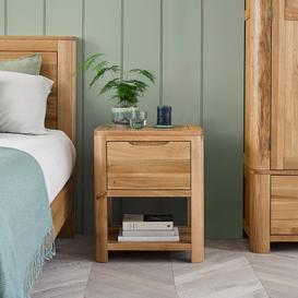 image-Natural Solid Oak Bedside Tables - Bedside Table - Romsey Range - Oak Furnitureland