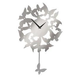 image-Pendulum Butterflies Wall Clock Mercury Row