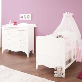 image-Fleur 2-Piece Cot and Changing Unit Set Pinolino