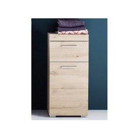 image-Amanda Narrow Floor Storage Cabinet In Knotty Oak
