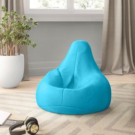 image-Kids High Back Gamer Bean Bag Chair Zipcode Design Upholstery Colour: Aqua Blue