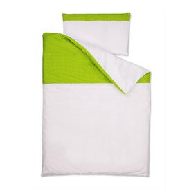 image-White Dots Children's Duvet Cover Set KraftKids Colour: Green/White
