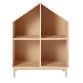 image-Children's Pine Wooden House Bookcase