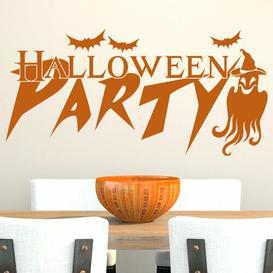image-Halloween Party, Ghost Wall Sticker East Urban Home Colour: Light grey, Size: 90 cm H x 186 cm W