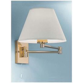 image-W128EL/9004 Low Energy Swing-Arm Wall Light, Polished Brass