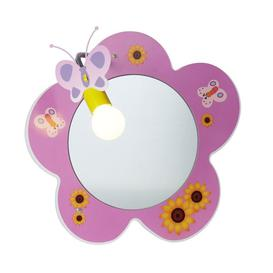 image-Searchlight 0124PI Novelty Mirror With One Spotlight In Pink