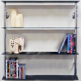 image-Wall Shelf Brayden Studio Finish: Chrome / Black