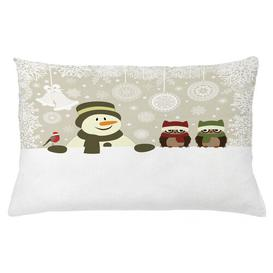 image-Abdurrahman Christmas Snowflake Winter Day Outdoor Cushion Cover Ebern Designs Size: 40cm H x 65cm W