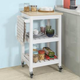 image-Draco Serving Cart Brambly Cottage Frame colour: White