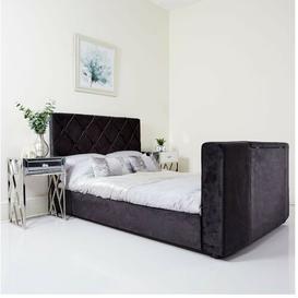 image-Alexandra Upholstered TV Bed Willa Arlo Interiors Size: Double (4'6), Colour: Black Soft Velvet