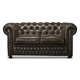 image-Musgrove Genuine Leather Chesterfield Loveseat Astoria Grand Upholstery: Hot cream