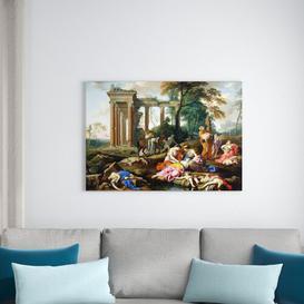 image-The Death of The Children of BeThel 1653 by Laurent De La Hyre Framed Art Print East Urban Home Size: 70cm H x 100cm W x 2.3cm D