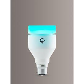 image-LIFX White and Colour Wireless Smart Lighting Adjustable Colour Changing LED Light Bulb, 11W A60 B22 Bayonet Bulb, Single