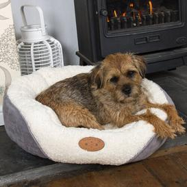 image-Chisdock Luxury Cosy Dog Bed in White Archie & Oscar Size: Small (60 cm L x 50 cm W)