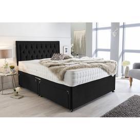 image-Mcleod Plush Velvet Bumper Divan Bed