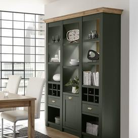 image-Ulverst Standard Display Cabinet August Grove Size: 207cm H x 296cm W x 45cm D