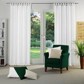 image-Cassian Tab top Room Darkening Single Curtain Wade Logan Colour: White, Size: 135 W x 245 D cm