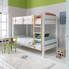 image-Una Bunk Bed Contemporary in Classic White & Pine