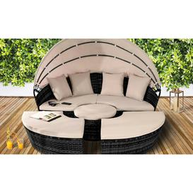 image-Margarita Garden Daybed with Cushions Sol 72 Outdoor Colour: Black