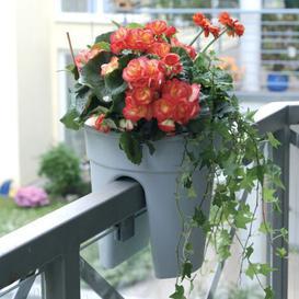 image-3 Piece Plastic Balcony Planter Set KHW Colour: Green
