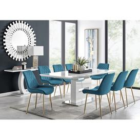 image-Eubanks Dining Set with 8 Chairs