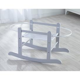 image-Alexi Rocking Moses Basket Stand Mack + Milo Finish: Dove Grey