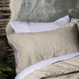 image-Piglet Oatmeal Stripe Linen Pillowcases (Pair)