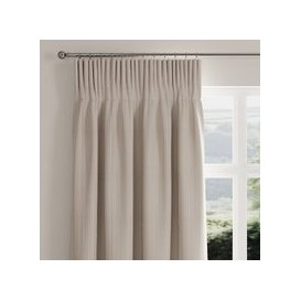 image-Rope Stripe Natural Pencil Pleat Curtains Natural