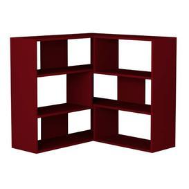 image-Corner Bookcase Symple Stuff Colour: Burgundy