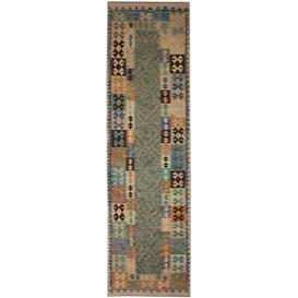 image-Hayrig Traditional Handmade Kilim Wool Blue/Green/Brown Rug Bloomsbury Market