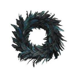 image-Libra Feather Blue Large Wreath - Xmas-19