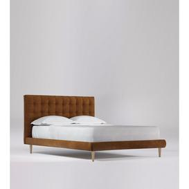 image-Swoon Sudrey King Bed in Tan Smart Leather With Light Feet