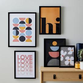 image-Pack of 5 Essentials Gallery Wall Frames Black