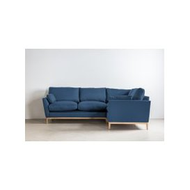 image-Nora Right Hand Chaise Sofa Bed in Oxford Blue