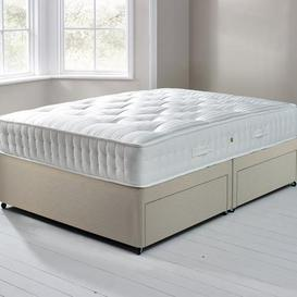 image-Fogarty Orthopaedic 1000 Mattress and Sprung Edge Divan Set with 4 Drawers Cream (Natural)