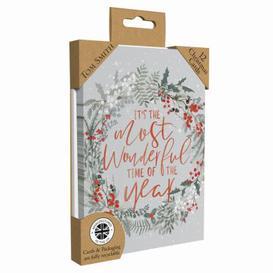 image-Luxury Wreath Christmas Cards